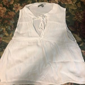 White flowy tank from Don't Ask Why, one size